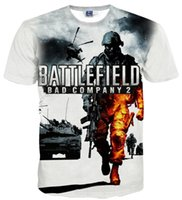 battlefield company - w1215 Love fashion New Fashion D t shirt short Sleeve print game Battlefield Bad Company Funny Casual t shirt Men t shirts