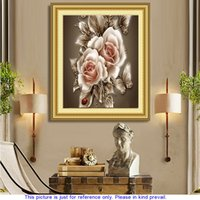 fabric painting - DIY Peonies Pattern Resin Rhinestone Pasted Cross Stitch Home Decoration Handmade Full Drill Embroidery Diamond Painting Set H14408
