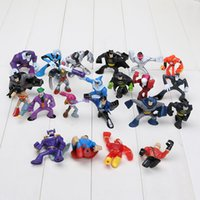 Wholesale retail DC superheroes action figures doll cm set of styes batman superman joker mini PVC figure