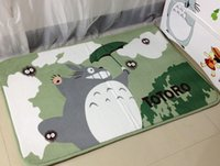 Wholesale 60 CM Totoro Mat Super Soft Coral Fleece Cartoon rugs and carpets for home living room Anti slip Kitchen carpet Bathroom Carpet