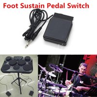 Wholesale Fashion Black Foot Sustain Pedal Switch Controller Momentary For Yamaha For Casio Electronic Piano Keyboard Drum Tone Universal