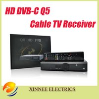 cable box digital - 5pcs DVB Q5 HD pvr cable box with tuner digital tv set top box cccam newcamd
