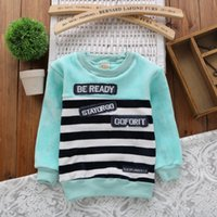 Wholesale Children s strip boys Sweaters Autumn Winter girls sweater kids tops long sleeves primer shirt years old colors K20