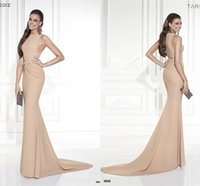 Wholesale Crew Sleeveless Awards Celebrity Evening Dresses Sheer Chiffon Ruffle and Picks Up Simple Stylish Prom Gowns A Line Sweep Train Dress Hot XL