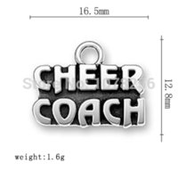 antique sign letters - 100pcs zinc alloy antique silver plated mm cheer letter sign charms Charms Cheap Charms Cheap Charms