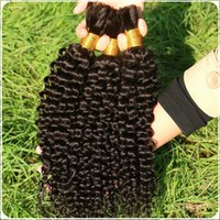 bulk braiding hair - DS braiding hair products mongolian virgin afro kinky curly bulk hair extension natural colour human braiding hair