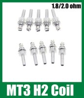 Cheap Atomizer Replacement Coil Clearomizer Replaceable Coil Core For Mt3 GS-H2 Protank 1 2 3 Mini Protank 1 2 3 1.8ohm 2.0 ohm free DHL fj058