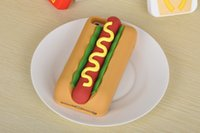 apple hot dogs - New Funny Delicious Food D Tempting Hot Dog Jam Bread Soft Silicone Case Cover For Apple iPhone S iPhone6