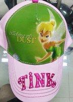 bell visor - Lovely Baby GirlsTinker Bell Visors Cap Cartoon Kids Sun Hats Adjustable Summer Berets Cap G236