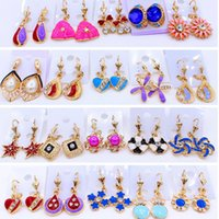 Wholesale The Fall Of The New South Korean Imports Of Jewelry Earrings Allergy Does Not fade Spread Hot Earrings Plastic