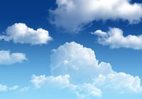 Wholesale Vinyl Custom Digital Photography Backdrops Props Sky and Cloud theme Background Compiter Printed ftx5ft JTS