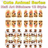beauty free pandas - Wild Animal Art Nail Sticker Model set Panda Tiger Cat Summer style gel polish beauty tool french manicure