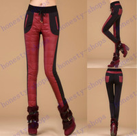 Wholesale Hot Sale Formal Pants Trousers Winter High Waisted Outer Wear Women Fashion Warm Windproof Thick Down Pants Single slim trousers