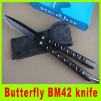 best sales tools - Hot sale General Verision Butterfly BM42 knife Outdoor survival tatical knife Fan knife cutting tools best christmas gift L