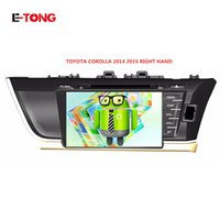 Wholesale CAR DVD PLAYER FOR TOYOTA COROLLA RIGHT HAND WITH ANDROID SYSTEM STEERING WHEEL OBDII MIRROR LINK RADIO VIDEO SD USB G MAP1