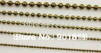 Wholesale 10meters mm ball chains bronze gold silver black rhodium Fitting DIY necklace bracelets F680