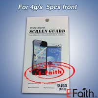 Wholesale Clear Front and Back Screen Protector Film Cleaning Cloth For iPhone G S G S and C