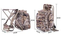 Wholesale Top Quality M Mill folding chair bag bionic camouflage hunting backpack with fishing chair multifunction portfolio fishing backpack T177