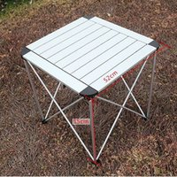 Wholesale Free EMS floding desk Beach Picnic table Park tables aluminium alloy camping outdoor table chairs light handy