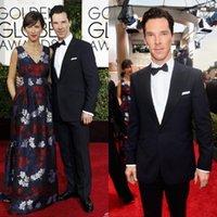 benedict cumberbatch - 2015 th Golden Globe Benedict Cumberbatch Custom Made Slim Fit Groom Tuxedos Best Man Suit Wedding Groomsman Men Suits Jacket Pants Tie