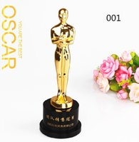 award trophies - Pc Styles Gold Statuette Movie Star Trophy Cup Crystal Pedestal Customized Crave Name Award Ceremony Trophy Cup Large Size