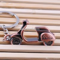 antique vespa - A16 Hot sale Antique Bronze Plated vespa Motorbike Key chain Personality Motorcycle Keychain For Ladies IB021 P