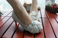 Wholesale Manual flat shoes women marry flat marriage lace white high to take pictures in the wedding dress wedding shoes with low women s shoes