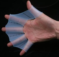 Wholesale Hot Swim Gear Fins Hand Webbed Flippers Silicone Training Paddle Dive Glove