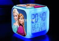 Wholesale kids frozen alarm clock frozen alarm clocks led change digital Glowing clocks frozen led digital clock color change clock
