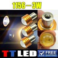 Wholesale 100 X S25 BA15S BA15D BAU15S BAY15D P21W W LED With golden shell Auto turn signal tail lamp V TF06