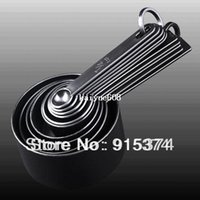 Wholesale Black Measuring Spoon Cup Measure Set for Baking Coffee