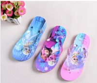 Girls beach shoes children - Summer Frozen Slippers shoes for Girls Children kid cartoon elsa anna princess Household Antiskid beach Thong Sandal Snow Queen Flip flops