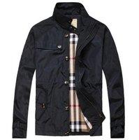 Wholesale New Autumn Spring Men s Brand Casual Jackets Outwear Zipper Classic Business luxury coats Windbreaker Size M XL
