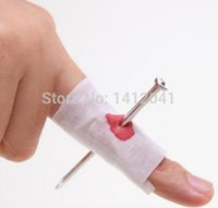 awesome costumes - FD623 Awesome New Bloody Nail Thru Through Finger Gag Prank Halloween Costume Party Prop