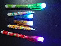 Wholesale Newly arrival Magic Invisible Private Pen UV Pen UV Light Combo Secret Message Currency Checker invisible pen