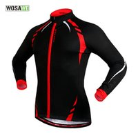 Wholesale WOSAWE Men s Fleece Thermal Cycling Jacket Long Sleeve Winter Windproof Bicycle Jersey Cycling Clothing Ropa Ciclismo Colors
