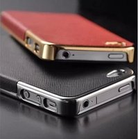 Wholesale Gold Side Business Luxury Back Cover Cross Pattern Leather for iphone plus Fashion Leather Cover case for iPhone s s s
