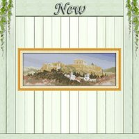 acropolis athens - The Acropolis in Athens Greece scenery Decor counted print on canvas DMC CT CT kits Cross Stitch embroidery needlework Sets