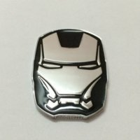 Wholesale 1 Piece D Car Black Color I ron Man Face Logo Metal Auto Emblem Badge Truck Sticker Car Decal