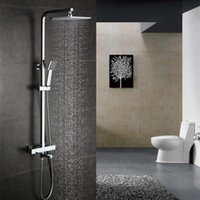 Wholesale Luxurious Exposed Solid Brass Thermostatic Bath Shower faucet mixer taps