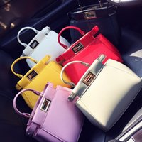 Wholesale Women Handbags New Fashion Lady Mini Handbag Solid Bags For Big Girls Hand Bag One Shoulder PU Leather Bags Candy Color I3802