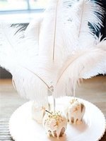 Wholesale inch cm beautiful Gold Ostrich Feather for Wedding DecoractionTable Decoration Wedding Centerpiece