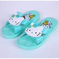 Wholesale New brand cute cartoon kids slipper girls slippers hello kitty children shoes girls summer shoes breathable children slippers