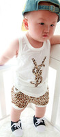 Cheap Unisex korean children clothing Best Summer Sleeveless childrens set