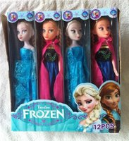 latex cartoon - In Stock Christmas Gift Frozen Elsa Anna Princess Dolls Figure Toys cm with Nice retail box package Baby Children toys Empress Elsa