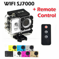 Wholesale Original Sports Wifi SJ7000 Action Cameras DV Full HD P With Remote Control Diving Waterproof m Helmet Cam Go Pro Style