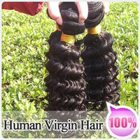 brazilian deep wave hair - DHL Top A Unprocessed Brazilian Virgin Human Hair Deep Wave Human Hair Extensions No Tangle No Shedding