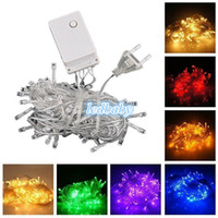 Wholesale Christmas light Holiday Sale Outdoor m LED string Colors choice Red green RGB Fairy Lights Waterproof Party Christmas Garden light