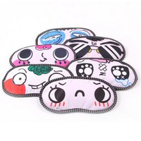 Wholesale Unisex Cartoon Funny Small Dots Sleeping Eye Mask Cute Anti Snoring Blindfold Sleeping Shade Cotton Cover Blinder Blindfold