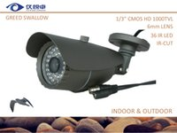 Wholesale Security Camera quot CMOS TVL CCTV Camera Waterproof Night Vision Led IR IR CUT Bullet Home Surveillance Camera AC01 G Free Shippg